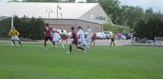 Calvin took on Aurora at home on Sept. 8.  Photo by Jess Koster