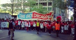 Teachers march on protest in Chicago this week. File photo