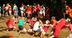 KE residents played tug-of-war in the mud while their underclass counterparts played the grime-free version at Chaos Day.  Photo courtesy KE Facebook page