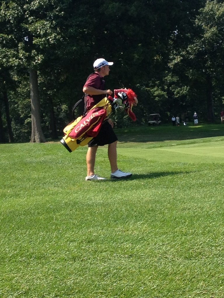 Men's golf finished fifth in its weekend tournament, just one stroke behind Alma. Photo by Mark Allen