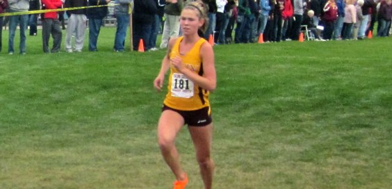 Alyssa Penning led the Knights to a first place finish over the weekend. Photo by Jess Koster