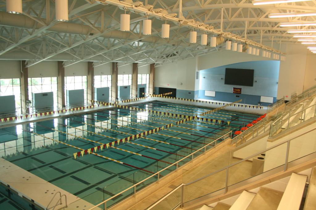 The Venema Aquatic Center features an Olympic-sized swimming pool. Photo courtesy calvin.edu