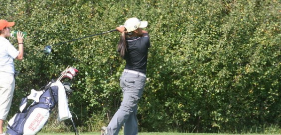 Calvin junior Carlia Canto led the Knights on Saturday with a round of 81, which led to a personal second place finish. Photo courtesy calvin.edu