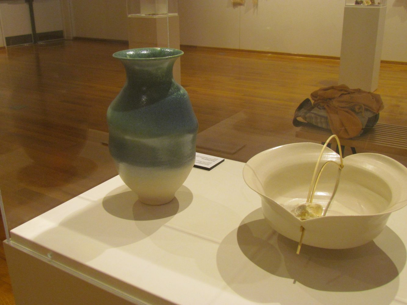 Center Art Gallery pieces currently on display. Photo by Kellee Dragt