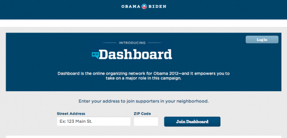 The Obama Dashboard is one new way for voters to get involved.
