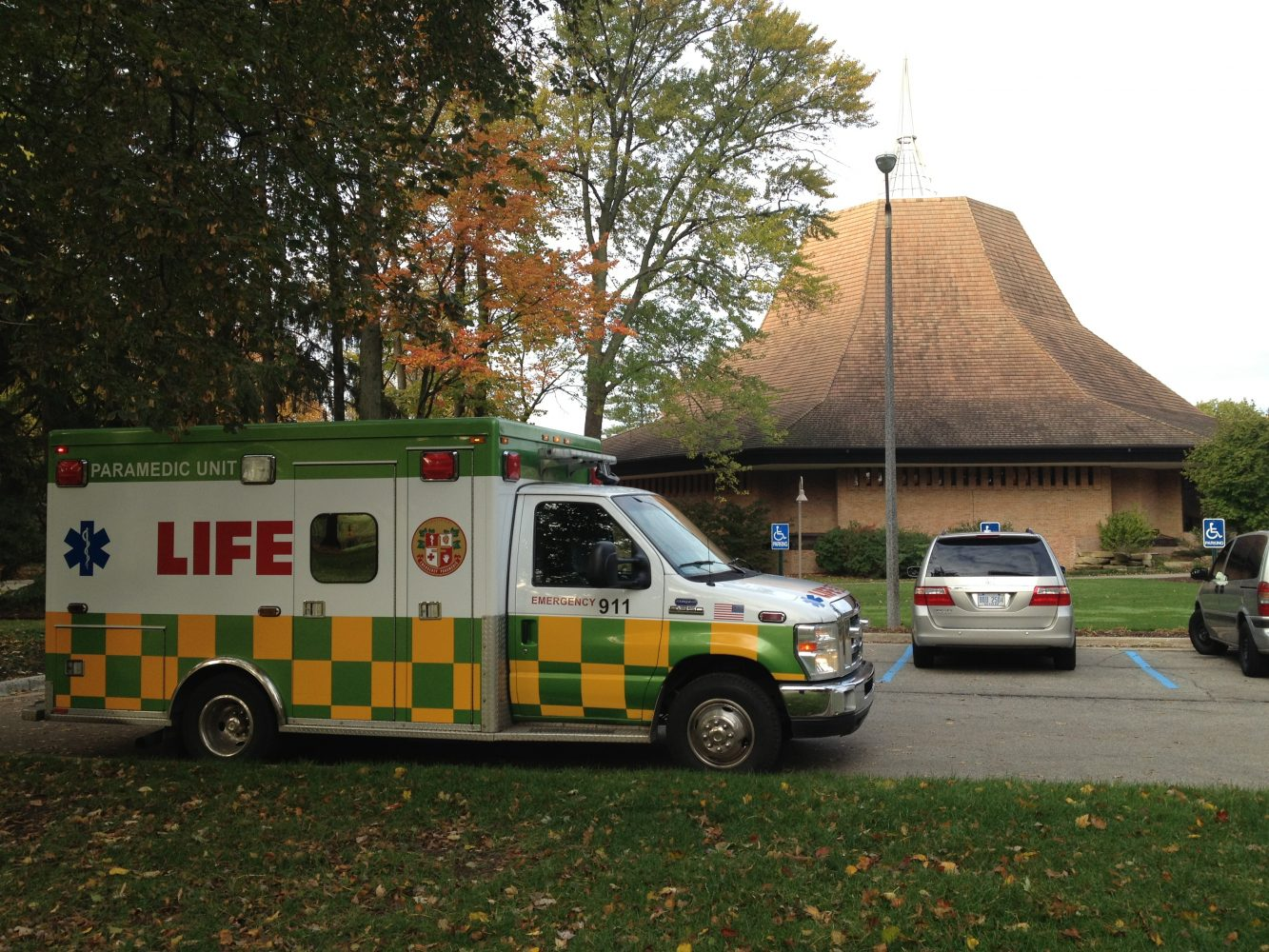 An+ambulance+arrived+on+campus+within+fifteen+minutes+of+the+emergency.++Photo+by+Ryan+Struyk