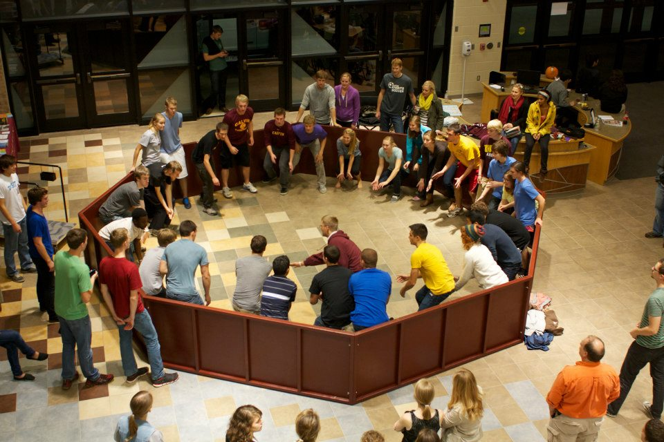 Students celebrate inauguration with games and entertainment