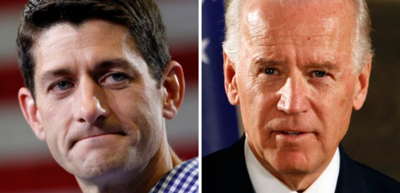 Republican VP candidate Paul Ryan (left) and current VP Joe Biden (right). FIle photo