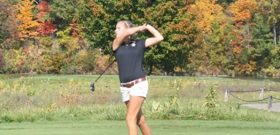 Senior Elise Doezema was selected as an all-MIAA player this fall. Photo courtesy calvin.edu Photo of Elise doezema