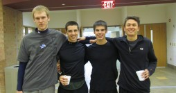 (l-r) Alex Boomsma, Matt Greeley, Codie Bhuyan, and Stephen Norregaard competed in the Nite-Life event.