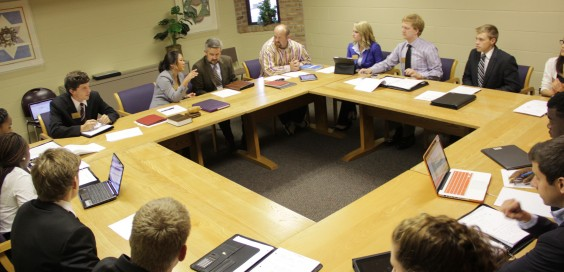 Student senate appoints students to sit on governance committees every year. Photo by Reid Petro