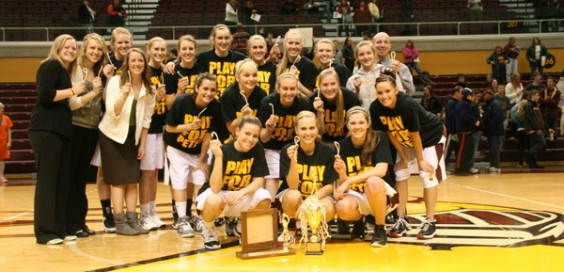 Last year's women's basketball team won the MIAA tourney. Photo courtesy calvin.edu