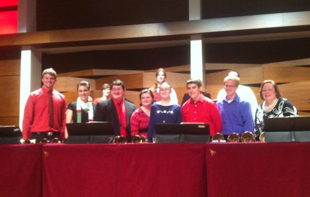 The choir is directed by Stephanie Wiltse.  Photo by Elizabeth Lamoureux