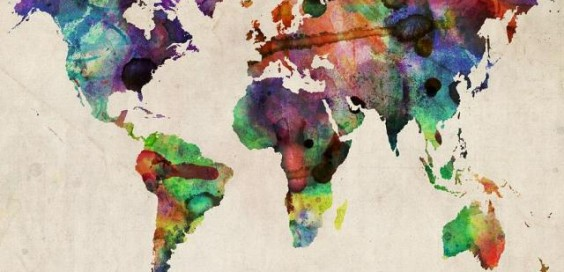 world-map-watercolor-16-x-20-michael-tompsett