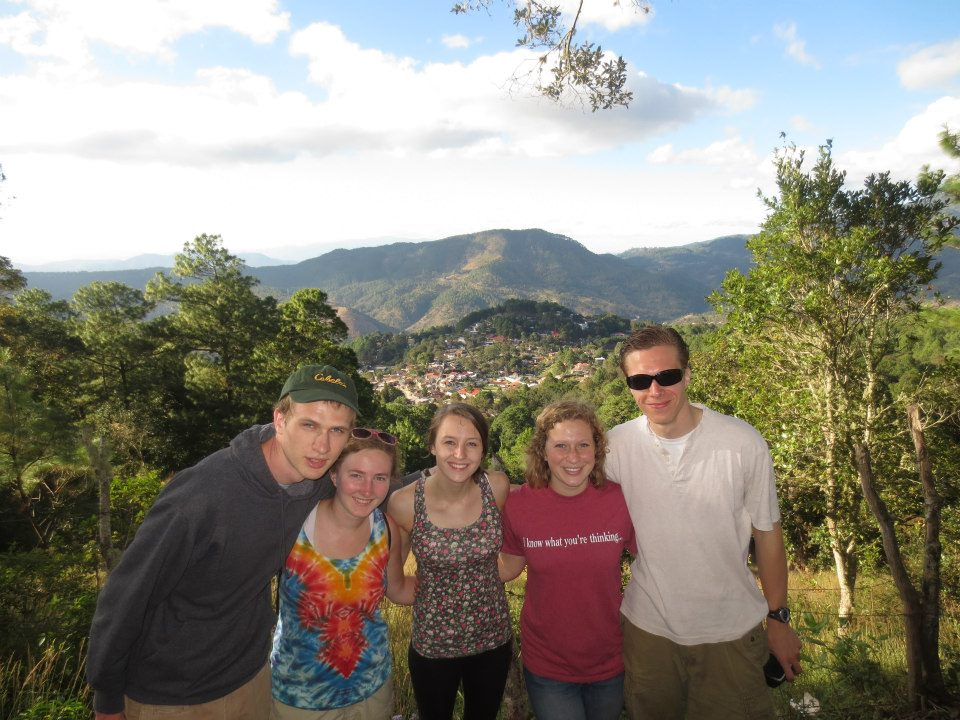 A group of students from this year's semester overlook Santa Lucia. Photo by Sarah Hubbel