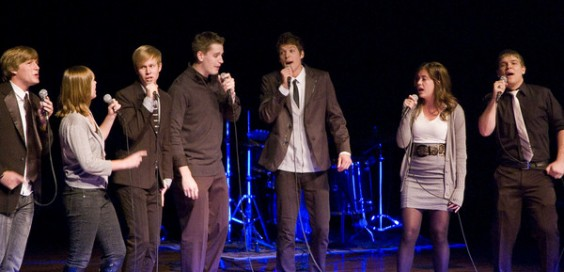 The competition often features a capella groups.  calvin.edu
