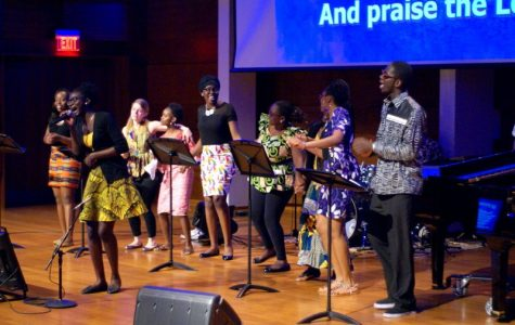 African worship service a time of praise and song