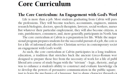 Calvin considers 'much smaller' core curriculum, changes coming to prelude