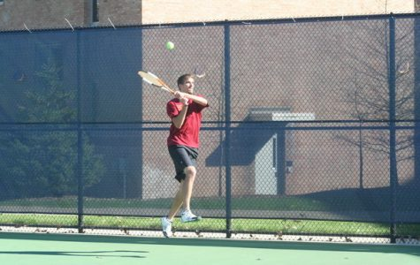 Men's tennis leading conference