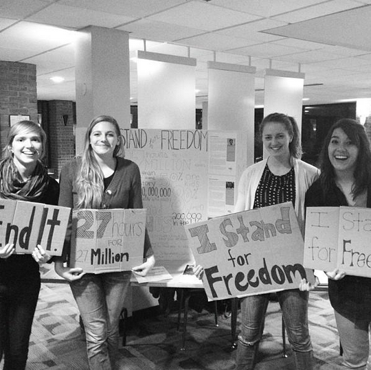 Students take a stand for freedom