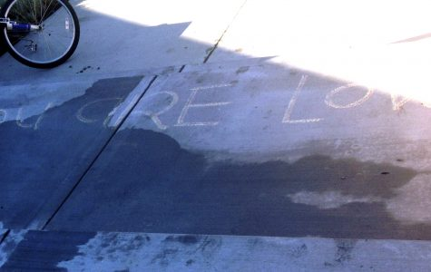 'Coming Out Day' chalk message erased after miscommunication