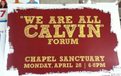 """Forum Continues """"We Are Calvin [too]"""" Campaign"""
