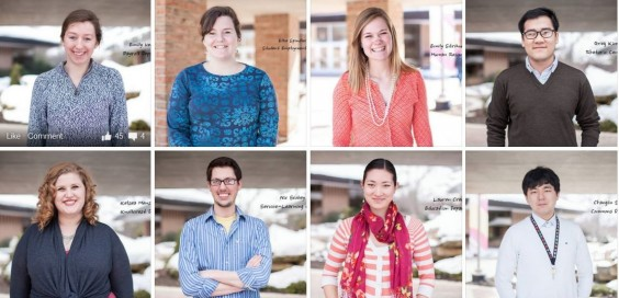 Some of the nominated employees. Photo courtesy Calvin College Jobshop.