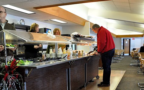Drop in usage prompts changes in staff dining