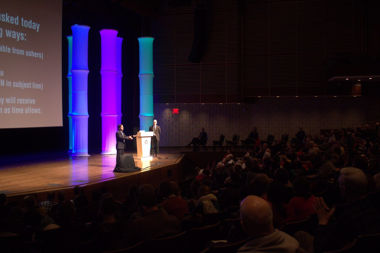 Josh Linkner speaks at the January Series. Photo by Anna Delph.