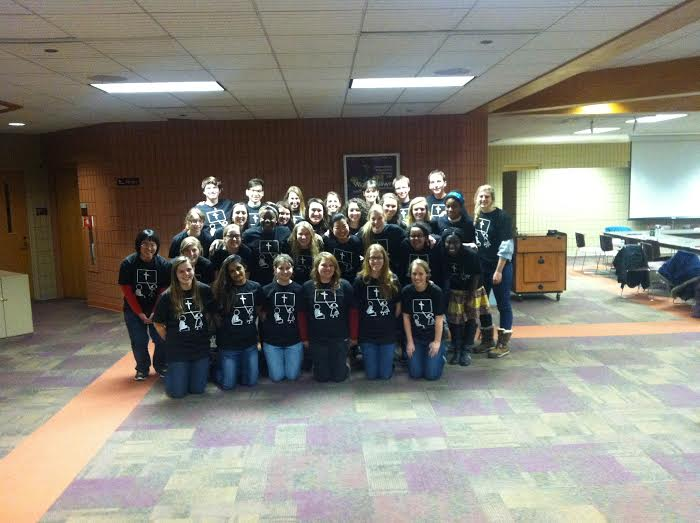 Committee members and volunteers prepare for the 2015 conference. Photo by Abby Paternoster.