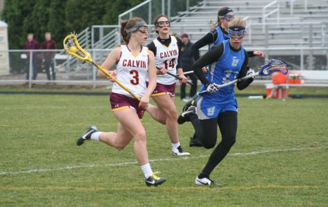 Calvin Knights Women's Lacrosse sticks it to the Trine Thunder