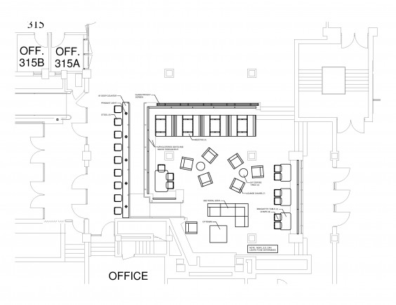 Proposed library lobby design (Photo courtesy student senate)