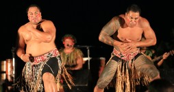 Two Maori men dancing at a traditional Hawaiian luau. Photo Credit Flikr