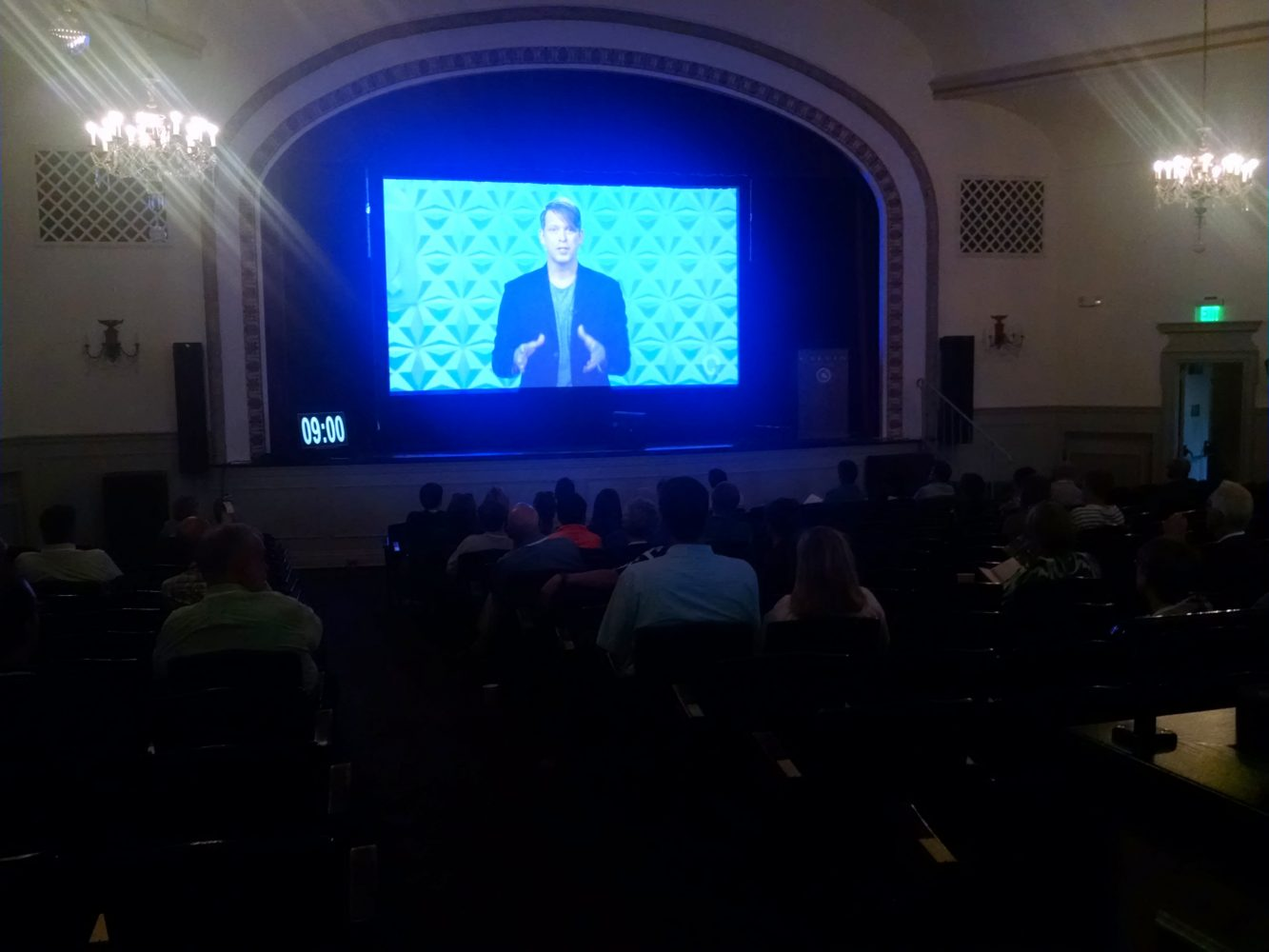 Gabe Lyons, founder of Q Commons movement, opens the international broadcast. Photo Credit Katelyn Bosch
