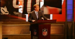 Commissioner Goodell speaking at NFL Draft in 2009