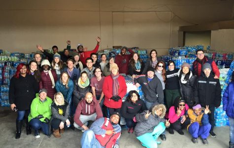 Calvin supported water drive raises over 300 cases of water donations