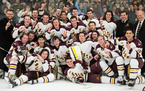 Knights Men's Hockey Score the League Championship