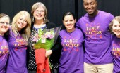 Ellen Van't Hof with Dance Guild leadership from past years who came to perform tribute dance this year. Photo courtesy Bekah Miller