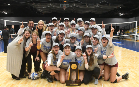 On top of the world: women's volleyball national champions