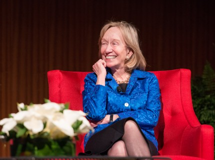 Doris Kearns Goodwin speaking at a panel at the Civil Rights Summit in 2014. Photo from Wikimedia Commons