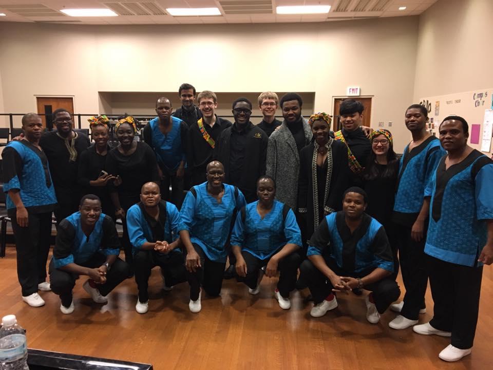 Ladysmith+Black+Mambazo+performed+in+concert+along+with+the+Calvin+Gospel+Choir+last+Saturday+night.+Photo+courtesy+Calvin+Gospel+Choir.