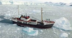 This is the M/V Cape Race ship that was used during the OMG's survey of the sea floor in Greenland's northwest coast. Photo courtesy NASA/JPL-Caltech.