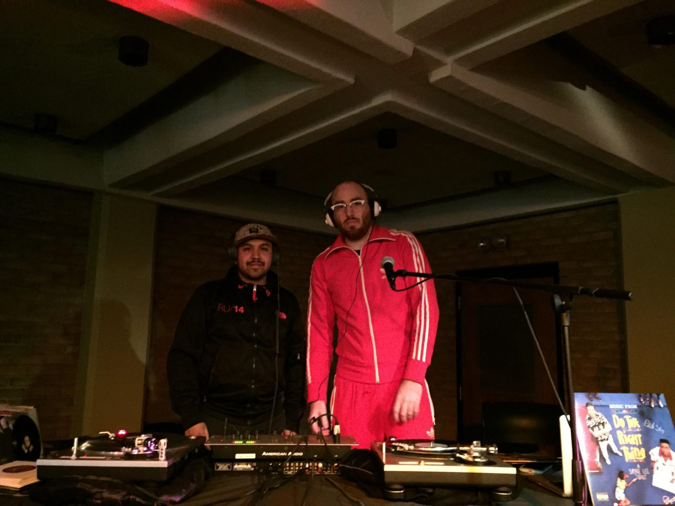 DJ MA and DJ Maxx perform in the Fish House; Photo by Daniel Hickey.