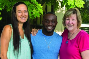 Alumni Board Officers: (from left to right) Sierra Asamoa-Tutu, Oludare Odumosu, and Cheryl TenBrink (Photo provided by Calvin Alumni Association/Susan Buist)