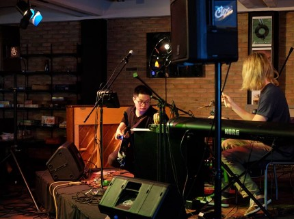 James Li and Johnson Cochran started their music career recording in the dorm basement and playing at the Cave. Photo by Matthew Schepers.