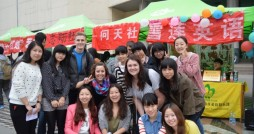 Members of Campus Target build relationships with Chinese college students. Photo courtesy Mission Finder.