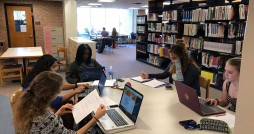 Students study in the library on a Sunday for the first time. Photo courtesy Calvin Senate.