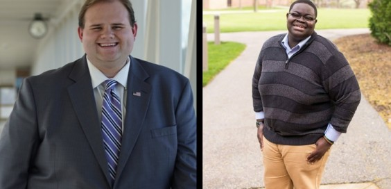 Presidential candidates Billy Fredericks (left) and Andrew Oppong (right).