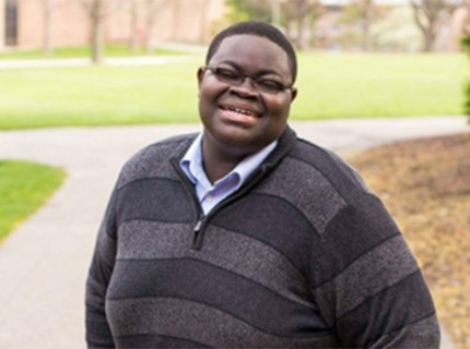 Andrew Oppong received 56 percent of the vote. Photo courtesy Calvin Senate.