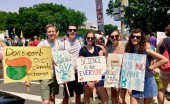Calvin students participate in climate advocacy march on Saturday,  April 29.  Photo courtesy Miriam Kornelis.